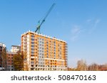 construction of a brick house... | Shutterstock . vector #508470163