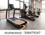 modern gym room fitness center...   Shutterstock . vector #508479247