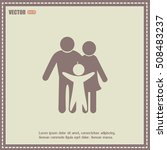 happy family icon in simple... | Shutterstock .eps vector #508483237