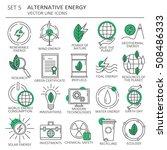 big set of symbols of... | Shutterstock .eps vector #508486333