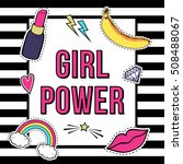 "vector poster ""girl power"" with ... 