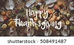 thnaksgiving blessing... | Shutterstock . vector #508491487