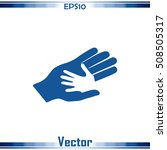 helping hands. vector... | Shutterstock .eps vector #508505317