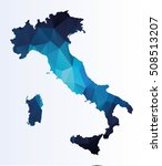 polygonal map of italy | Shutterstock .eps vector #508513207