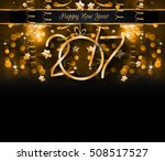 2017 happy new year background... | Shutterstock .eps vector #508517527