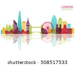 london detailed skyline. vector ... | Shutterstock .eps vector #508517533