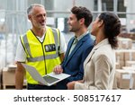 warehouse managers and worker... | Shutterstock . vector #508517617