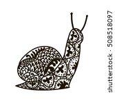 snail. animals. hand drawn... | Shutterstock .eps vector #508518097
