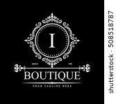 luxury logo template in vector... | Shutterstock .eps vector #508518787