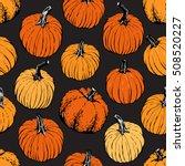 pumpkin pattern including... | Shutterstock .eps vector #508520227