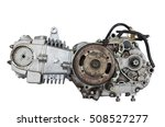 Old Motor Engine And Gear Of...