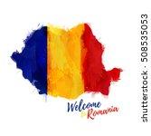 symbol  poster  banner romania. ... | Shutterstock .eps vector #508535053
