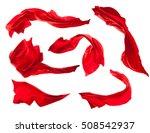 smooth elegant red satin cloth...   Shutterstock . vector #508542937