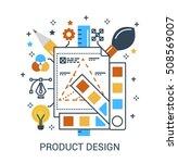 flat infographic design concept ...