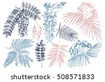 vector collection of hand drawn ... | Shutterstock .eps vector #508571833