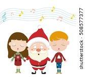 christmas carolers   Shutterstock .eps vector #508577377