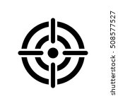 target icon. crosshair in the... | Shutterstock . vector #508577527