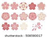 cherry blossoms  design parts... | Shutterstock .eps vector #508580017
