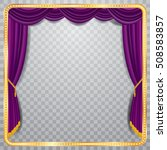 vector stage with purple... | Shutterstock .eps vector #508583857