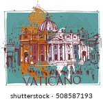 vatican church | Shutterstock .eps vector #508587193