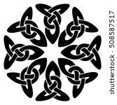 vector template celtic knot for ... | Shutterstock .eps vector #508587517
