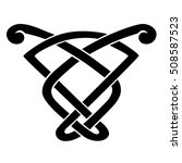 vector template celtic knot for ... | Shutterstock .eps vector #508587523