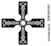 celtic cross tattoos.celtic... | Shutterstock .eps vector #508589383