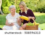 elderly woman and young woman... | Shutterstock . vector #508596313