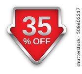 35 percent off vector badge ... | Shutterstock .eps vector #508602217