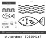 fish vector line icon isolated... | Shutterstock .eps vector #508604167