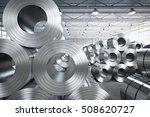 3d rendering roll of steel... | Shutterstock . vector #508620727
