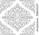 damask vector classic silver... | Shutterstock .eps vector #508634107