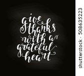 vector happy thanksgiving... | Shutterstock .eps vector #508635223