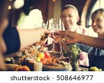 people cheers celebrating... | Shutterstock . vector #508646977