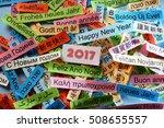 happy new year  word cloud...   Shutterstock . vector #508655557