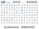set vector line icons in flat... | Shutterstock .eps vector #508665337