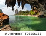 tropical phra nang beach...   Shutterstock . vector #508666183