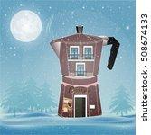 vector concept coffee house...   Shutterstock .eps vector #508674133