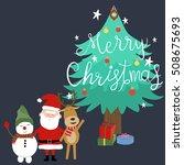 merry christmas santa claus...   Shutterstock .eps vector #508675693