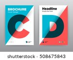 c  d  blue red diagonal... | Shutterstock .eps vector #508675843