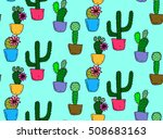 cactus seamless pattern... | Shutterstock .eps vector #508683163