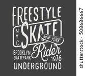 skate board freestyle... | Shutterstock .eps vector #508686667