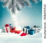 christmas holiday background... | Shutterstock .eps vector #508695523