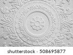 old antique white  plaster... | Shutterstock . vector #508695877