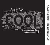 cool awesome typography  t... | Shutterstock .eps vector #508695997