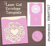lasercut vector wedding...   Shutterstock .eps vector #508697317