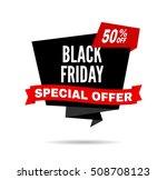 black friday sale design... | Shutterstock .eps vector #508708123