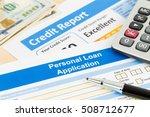 personal loan application form... | Shutterstock . vector #508712677
