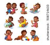 vector african american little... | Shutterstock .eps vector #508714633