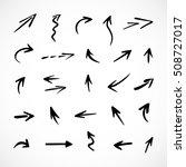 hand drawn arrows  vector set   Shutterstock .eps vector #508727017